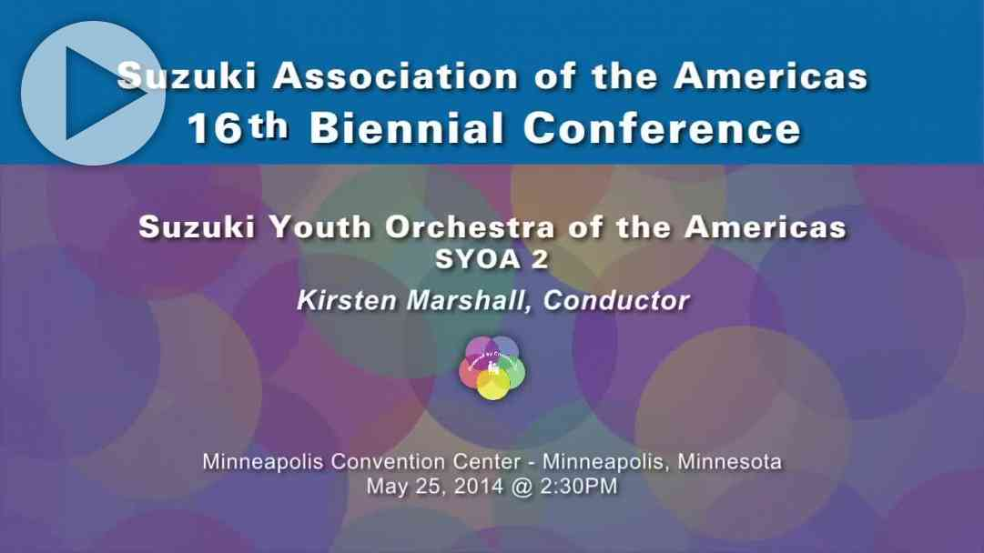 SYOA 2 Beginning Performance—Conference 2014
