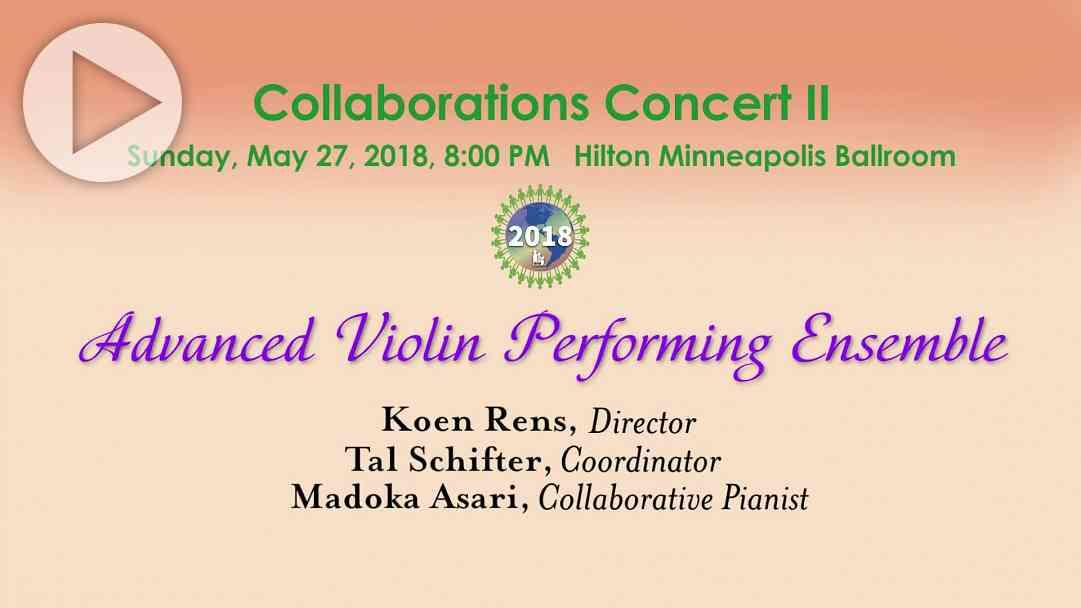 Advanced Violin Performing Ensemble—SAA Conference 2018