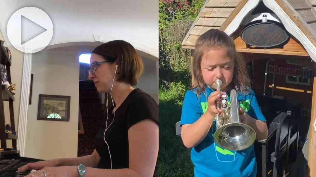 ISSI Trumpets Play Amazing Grace—2020 Social Distance