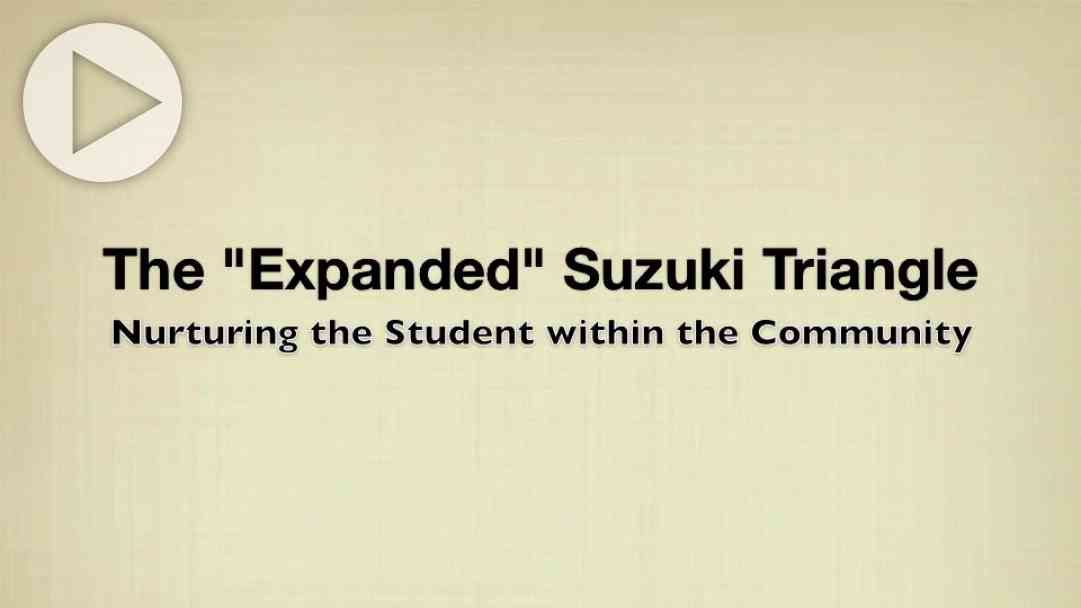 The Expanded Suzuki Triangle: Nurturing the Student within the Community