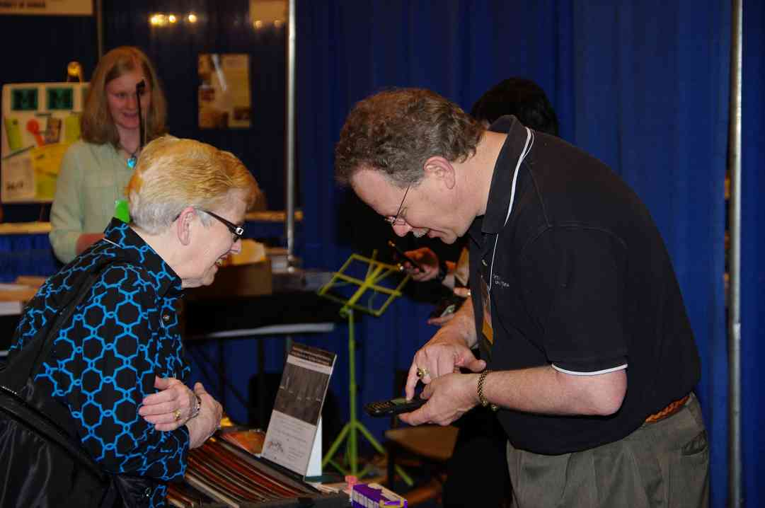 Exhibit area at the 2010 Conference