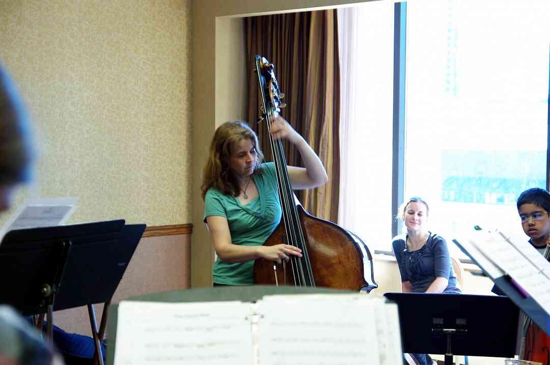 Bass Choir rehearsal a