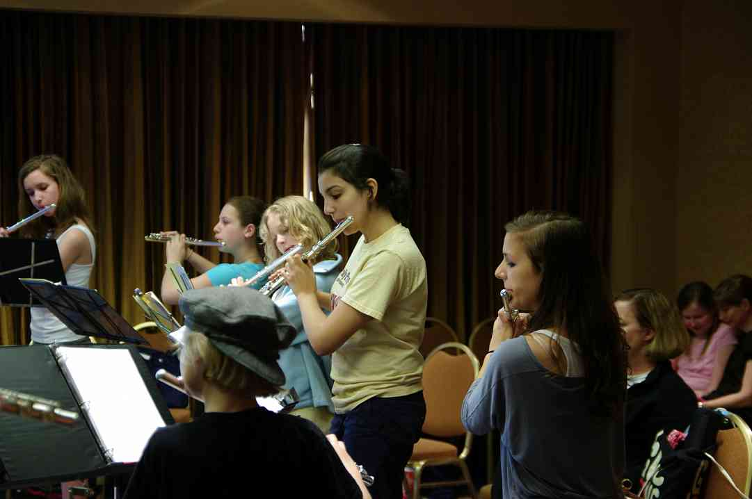 Flute Performing Ensemble rehearsal at the 2010 Conference