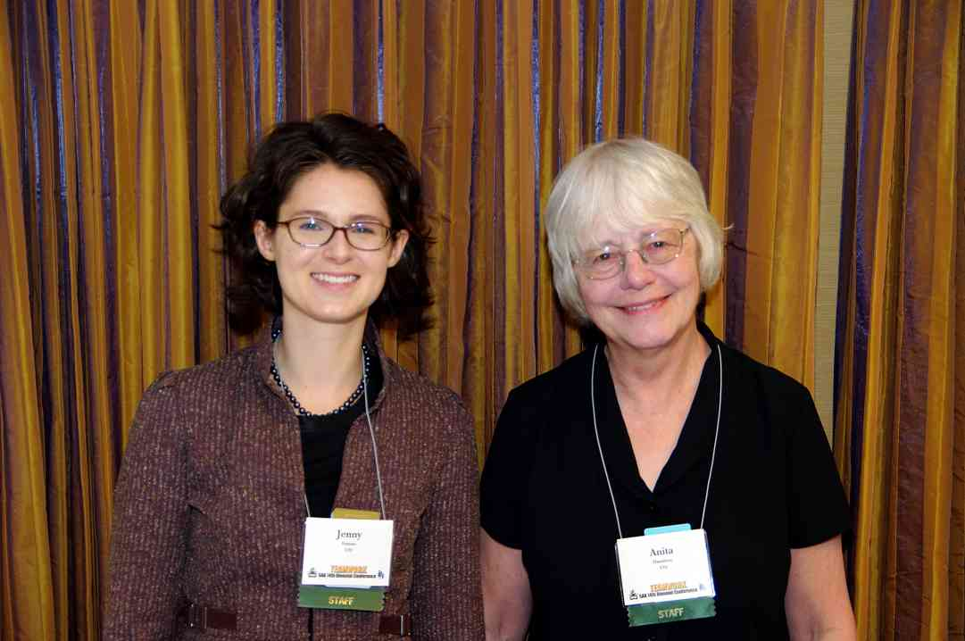 Jenny Ferenc and Anita Hamilton, SAA Staff, at the 2010 Conference