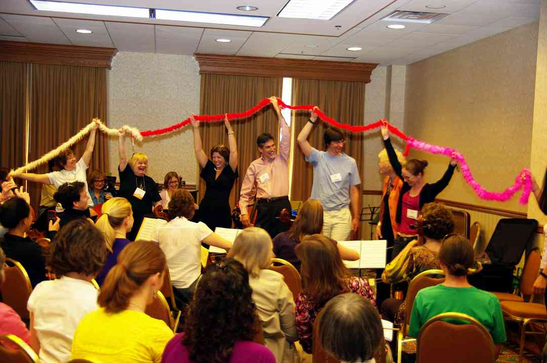 Carol Tarr, Ronda Cole, Allen Lieb, and others participate in a session at the 2010 Conference