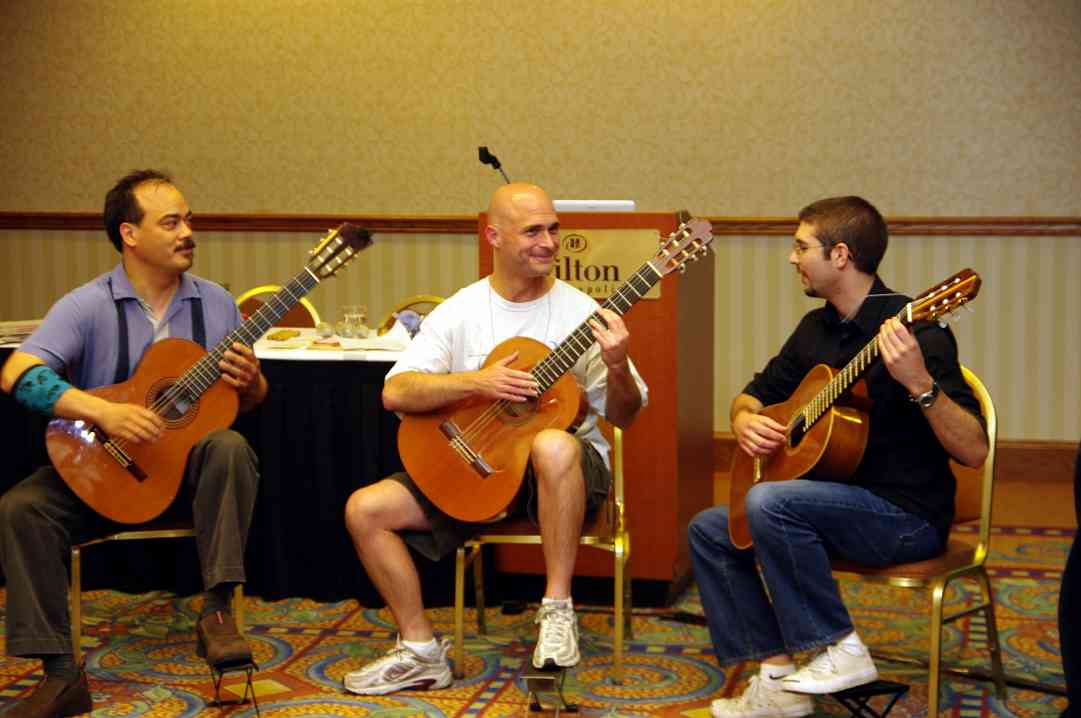 Guitar session at the 2010 Conference