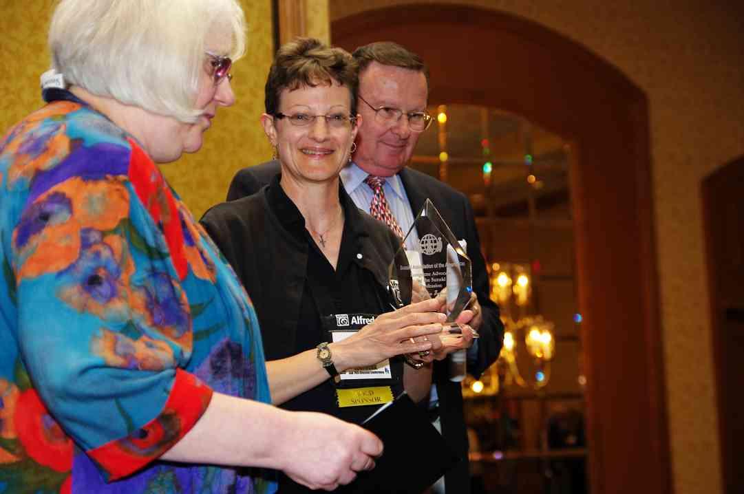 Gilda Barston, Judy Bagnato, and Paul Landefeld at the 2010 Conference. Judy Bagnato received a CLC Award.