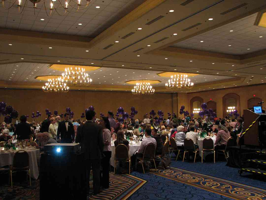 Awards banquet at the 2010 Conference