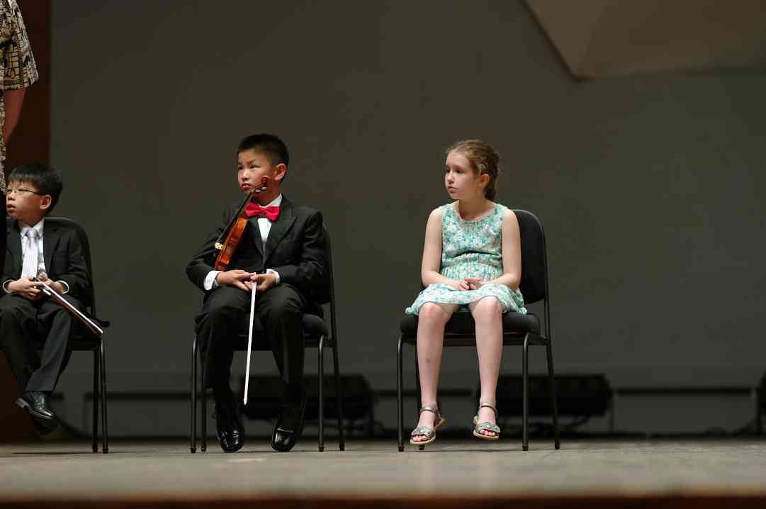William Tan, Matthew Ho, and Ida Beckett in the Kaleidoscope Concert