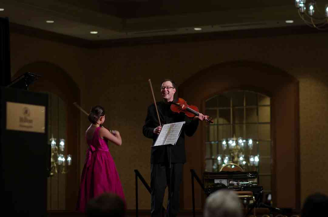 Violin master class with Brian Lewis