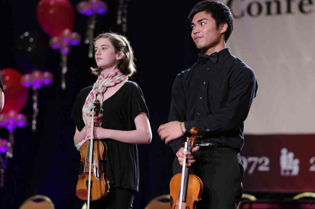 Concorde Strings Performing Ensemble performs in the International Ensembles Concert
