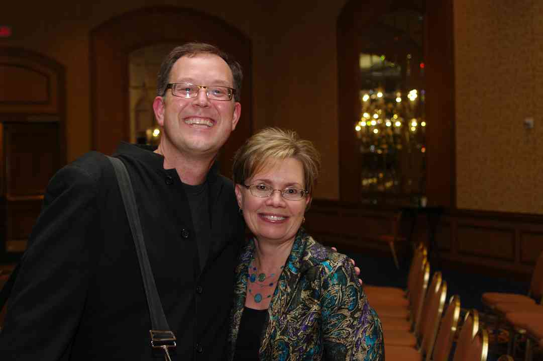 Brian Lewis and friend at the 2012 conference
