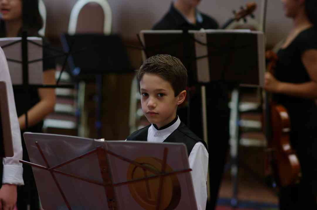 A young member of the Bach viola ensemble at the 2012 Conference