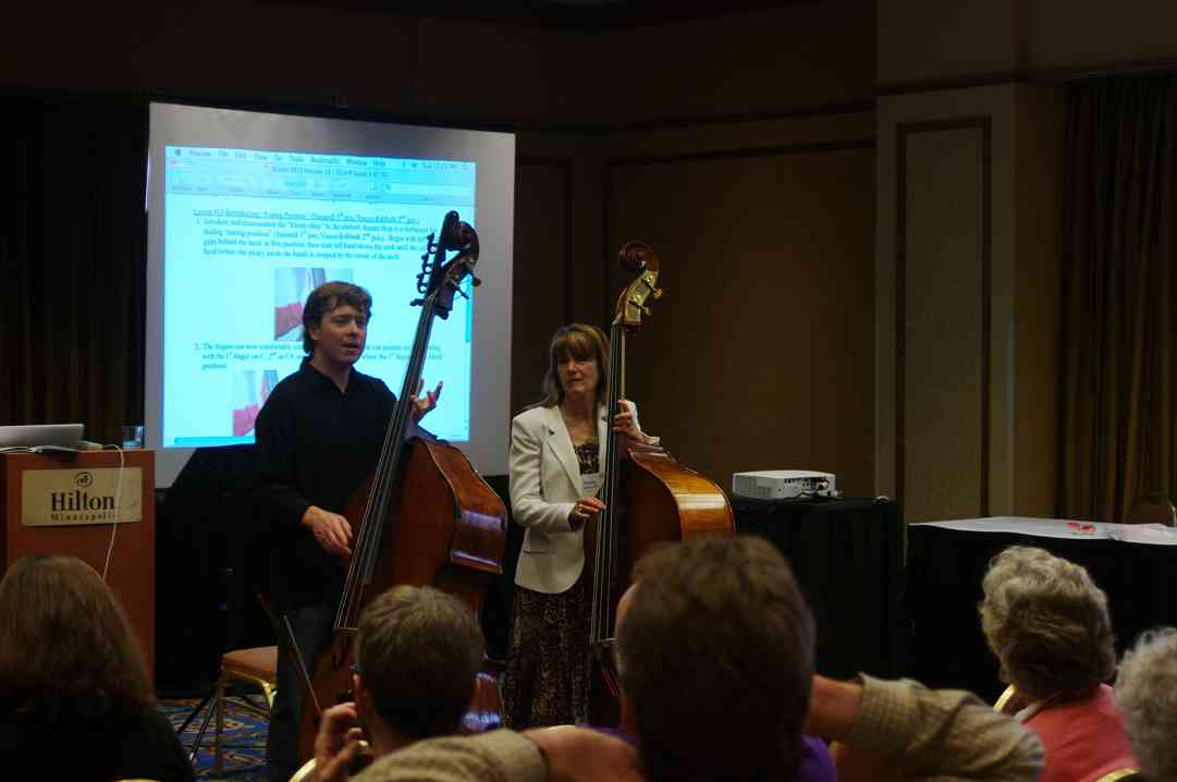 Nicholas Walker gives a bass session at the 2012 Conference