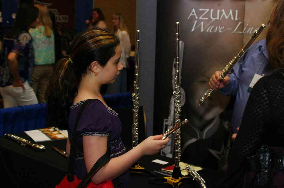 Azumi Flutes exhibit booth at the 2012 Conference