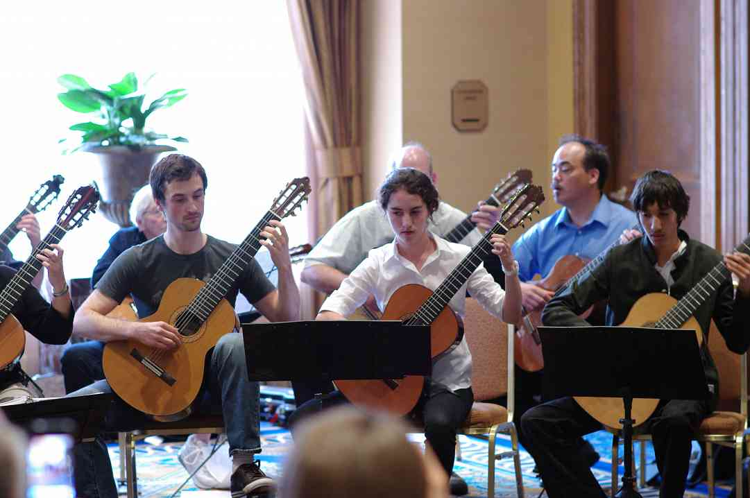 Guitar Ensemble performance at the 2012 conference