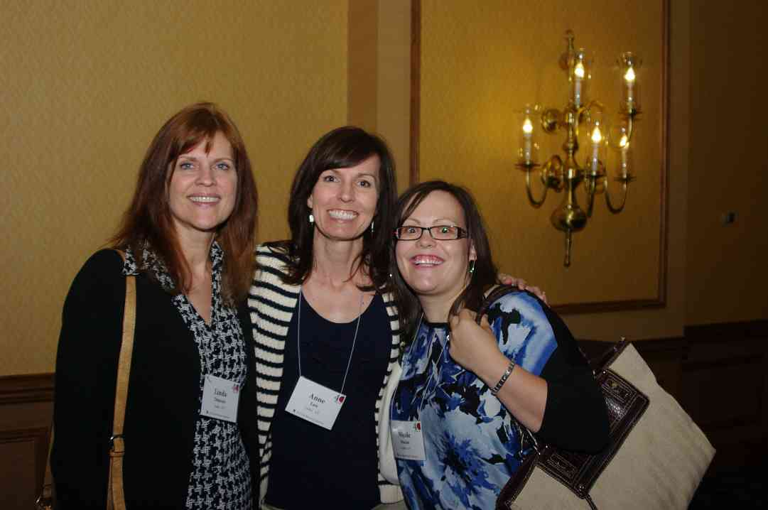 Linda Duncan, Anne Law, and Nicole Macias at the 2012 conference