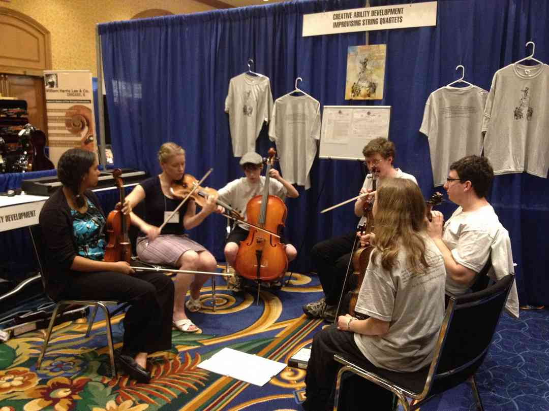 Improvising String Quartets exhibit booth at the 2012 Conference