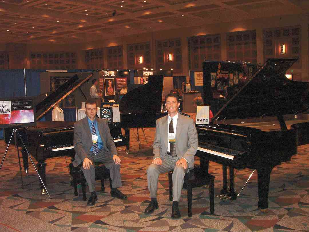Kawai pianos in the exhibits area at the 2004 SAA Conference