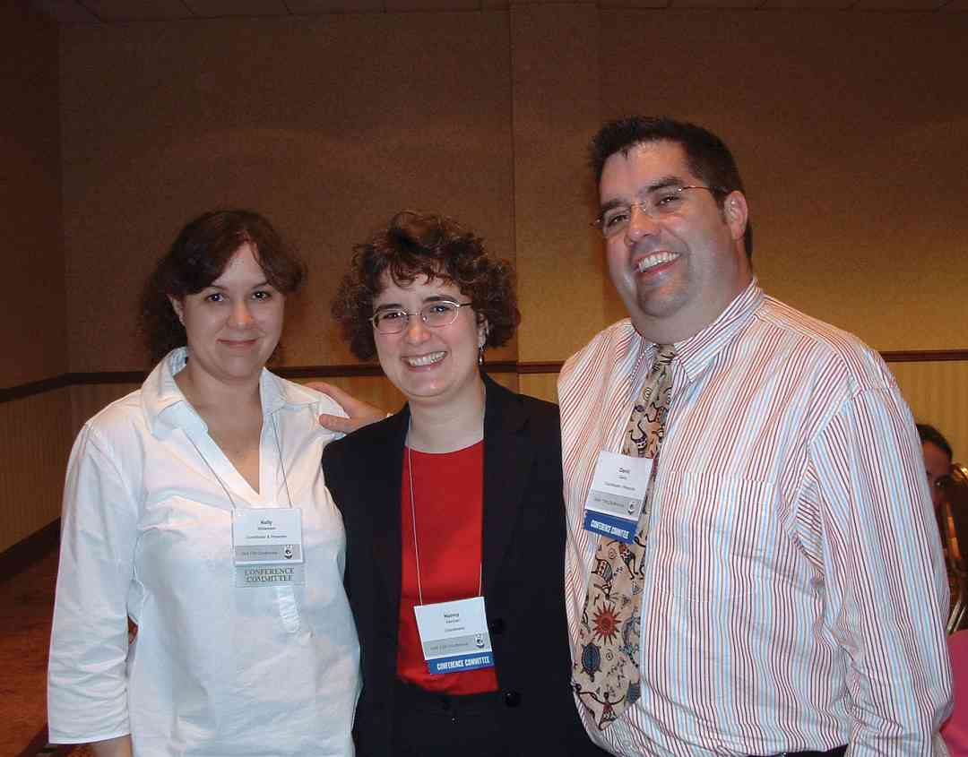 Kelly Williamson, Nancy Hannen, and David Gerry at the 2004 SAA Conference
