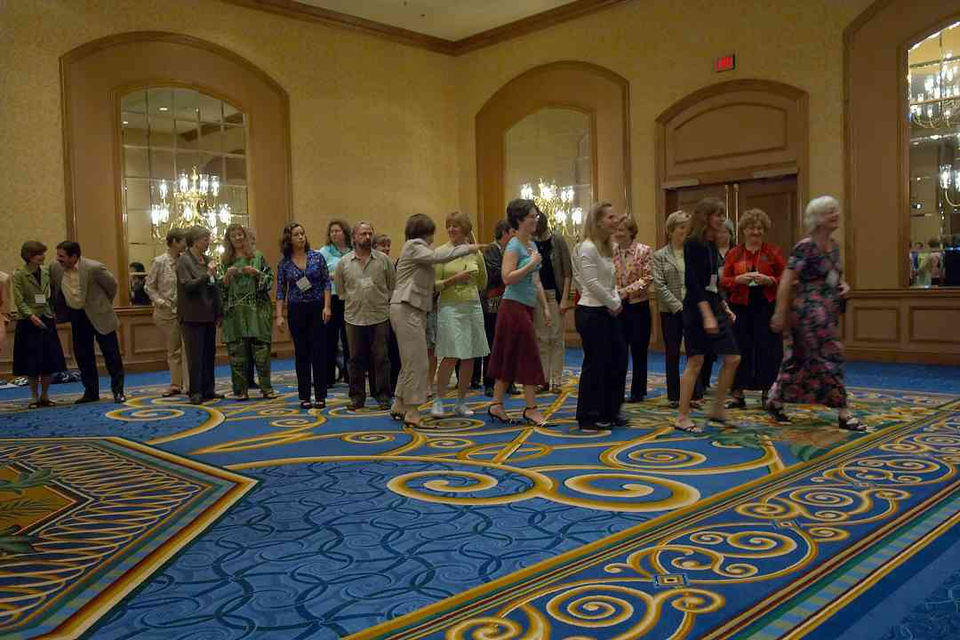 Pam Brasch herds the conference team and staff to the 2006 SAA Conference opening ceremonies