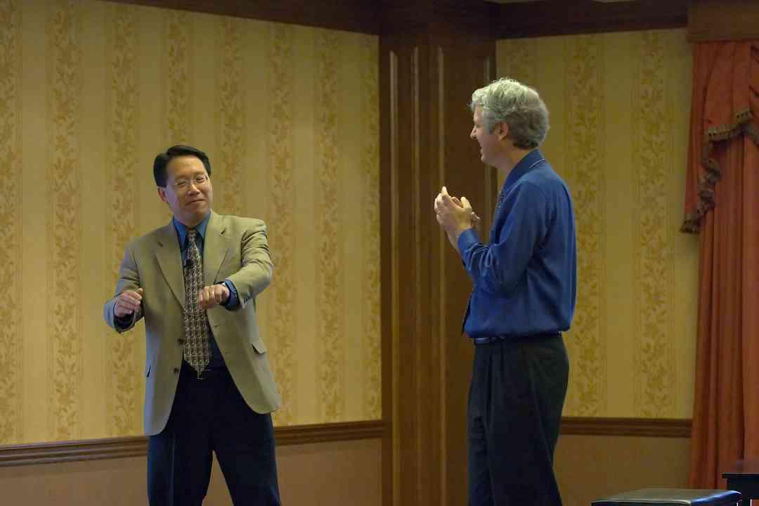 Brian Chung and Brian Ganz at the 2006 SAA Conference