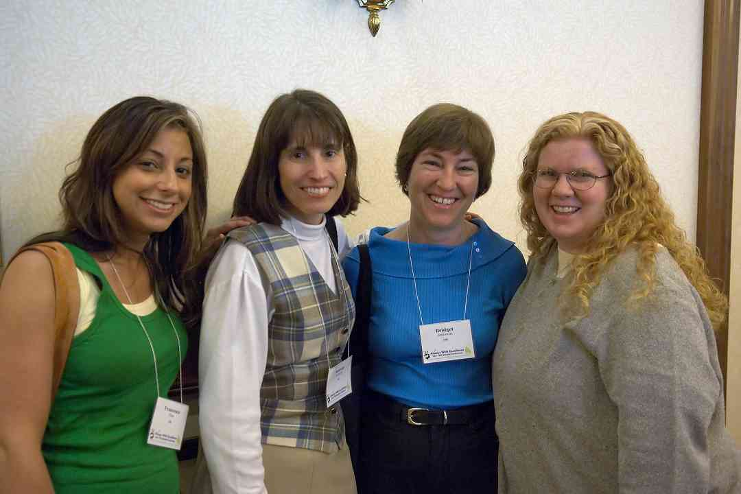 Bridget Jankowski and friends at the 2006 SAA Conference