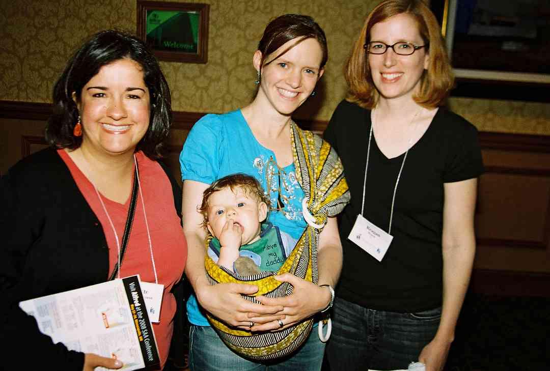 Arlette Aslanian, Carlough Faulkner-Carroll & baby, and Reagan Brasch.
