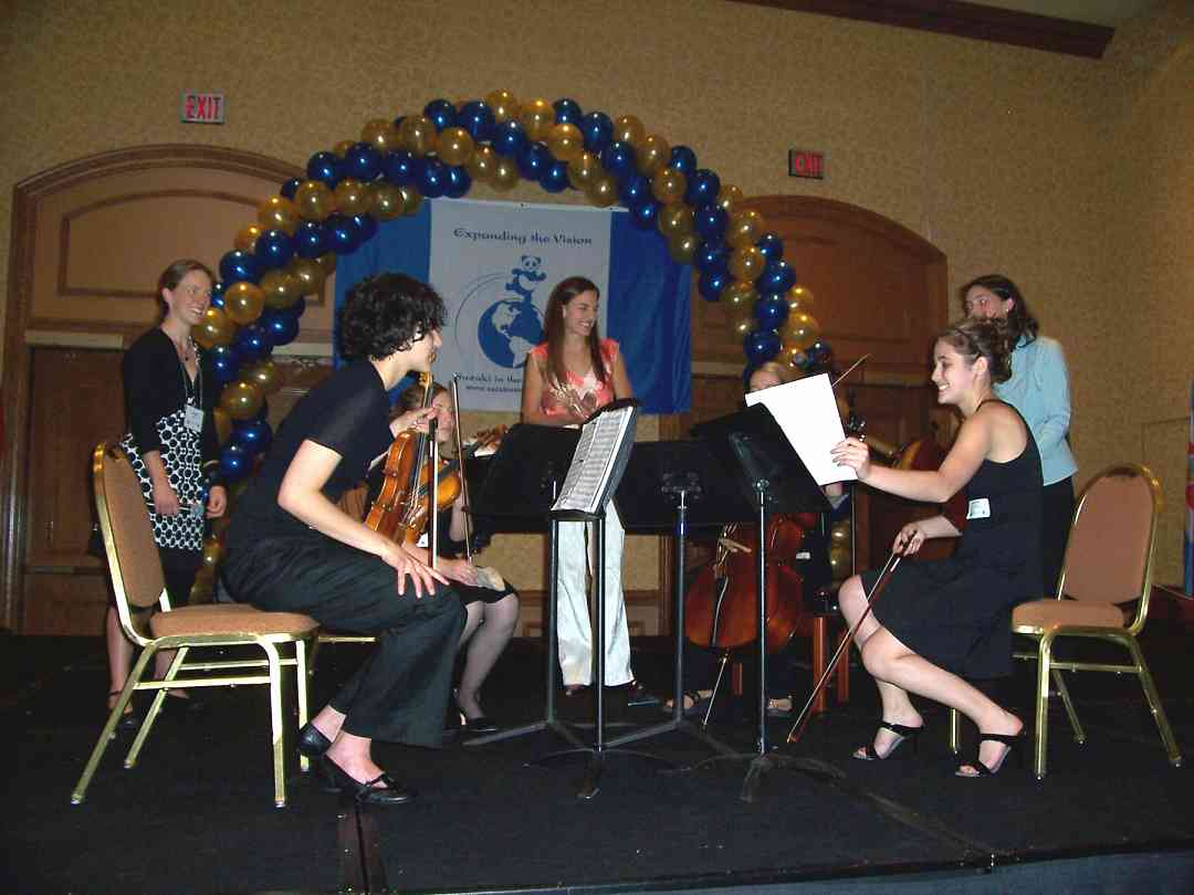 Capriccioso String Quartet in the chamber music masterclass at the 2008 SAA Conference