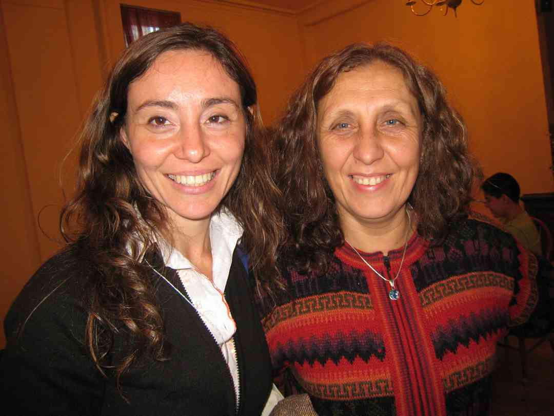 Andrea Gallo and Flor Canelo at the 2008 SAA Conference