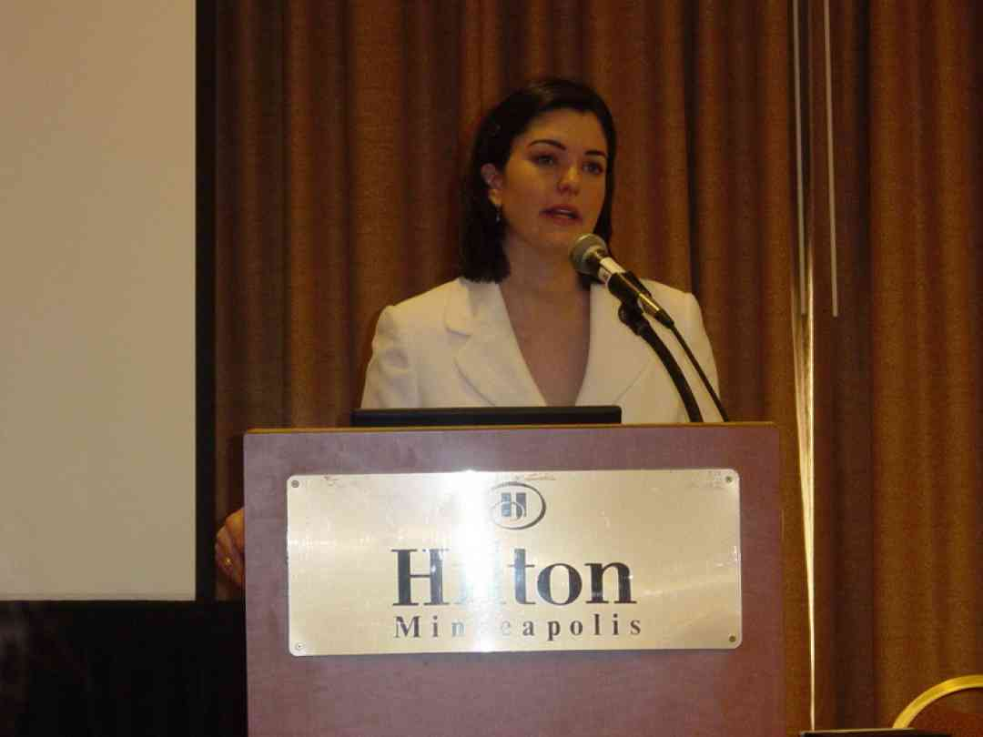 Dr. Sarah Allen speaks at the 2008 SAA Conference