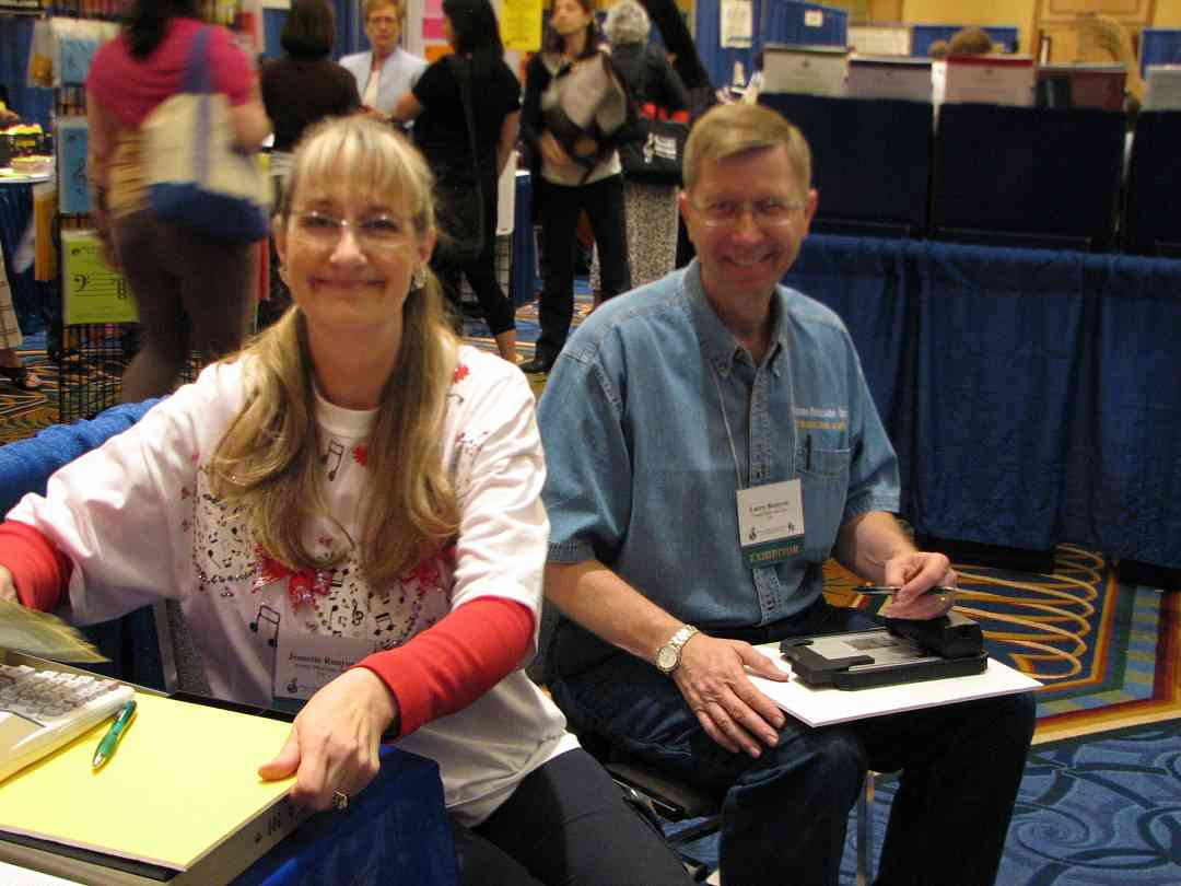 Jeanette and Larry Runyon from Young Musicians exhibit at the 2008 SAA Conference