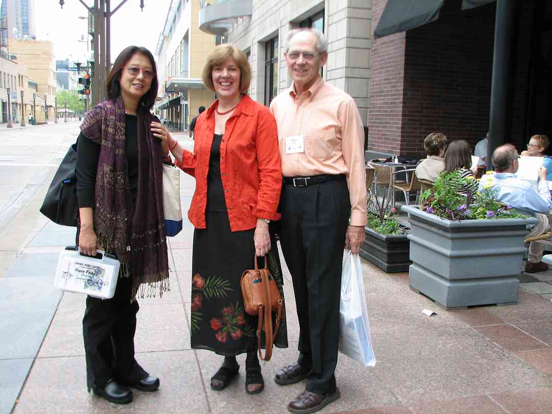 Kathleen and Glenn Spring and friend in downtown Minneapolis at the 2008 SAA Conference