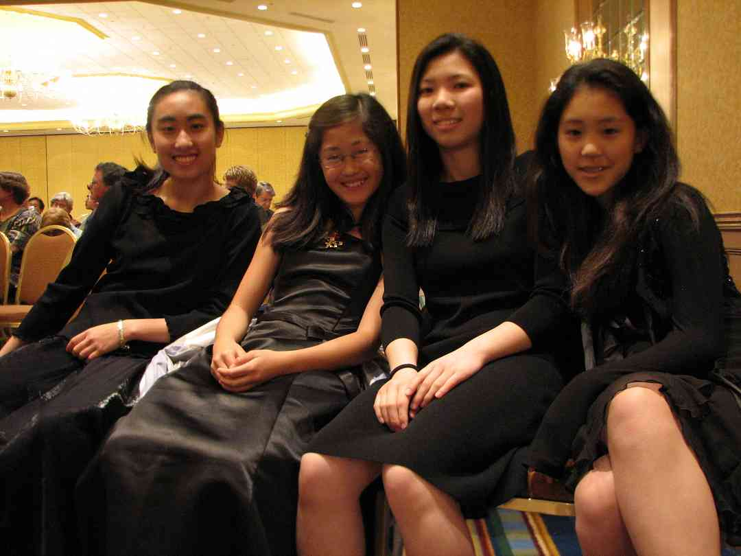 Four piano concerto performers relaxing before the big gig at the 2008 SAA Conference