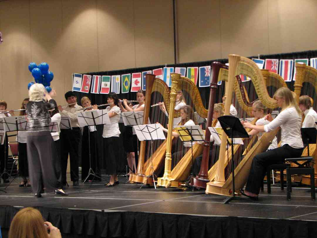 Flute and Harp Ensemble performance with Wendy Stern conducting at the 2008 SAA Conference