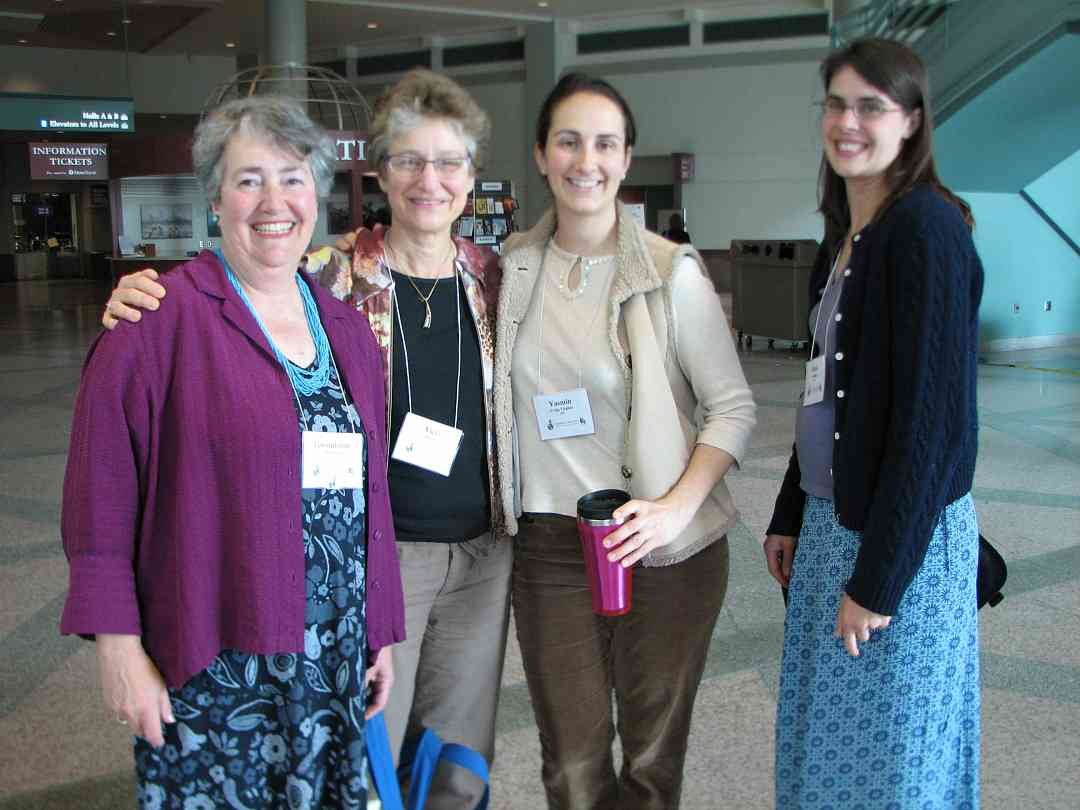 Gwendoline Thornblade, Vicki Citron, Yasmin Craig, and friend at the 2008 SAA Conference