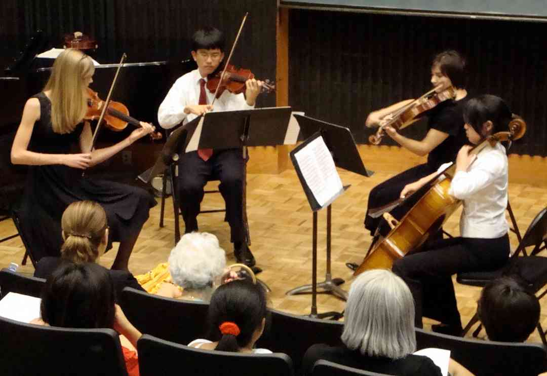 String quartet concert at Advanced Suzuki Institute at Stanford