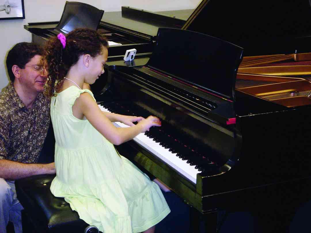 Piano lesson at Hartt Suzuki Institute