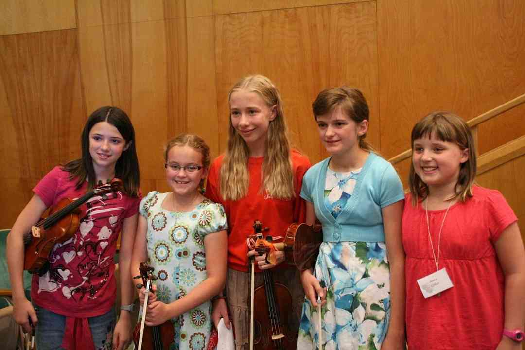Violin students at Montana Suzuki Institute