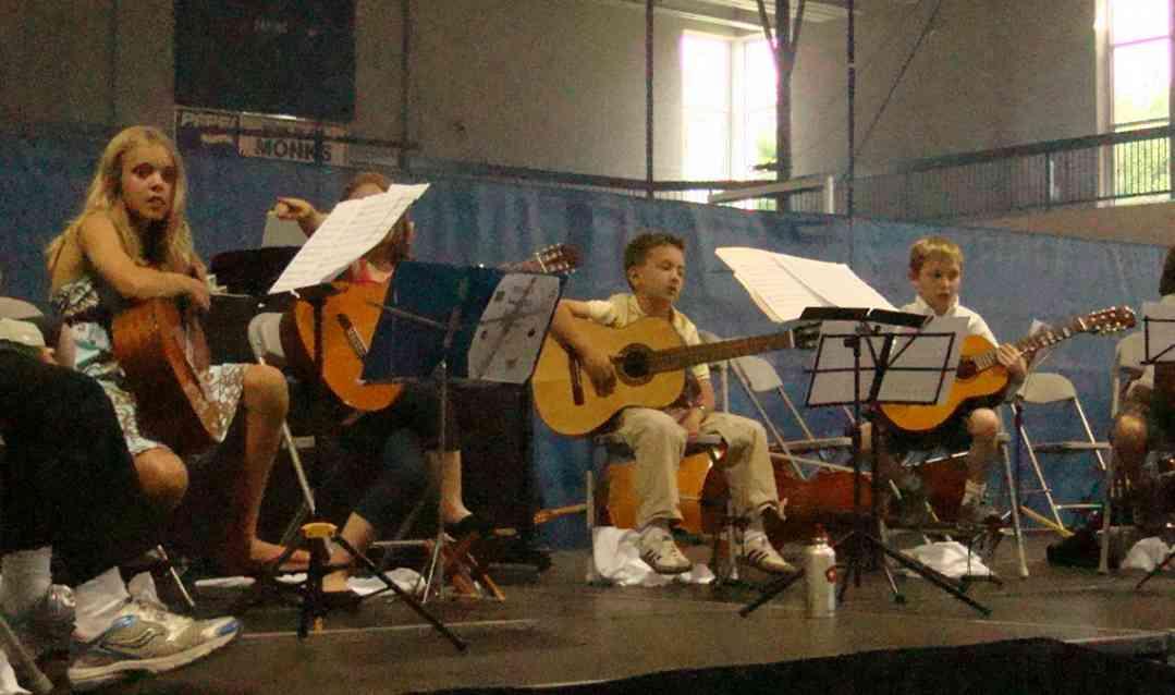 Guitar students at New England Suzuki Institute