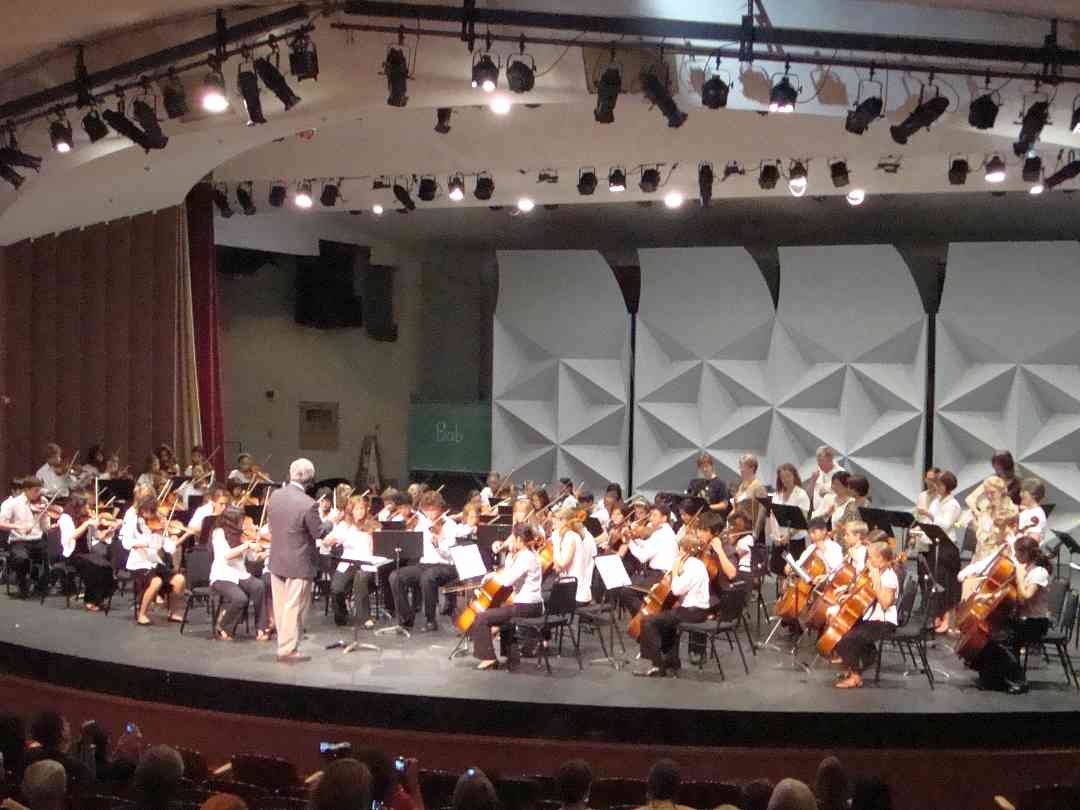 Orchestra concert at Advanced Suzuki Institute at Stanford