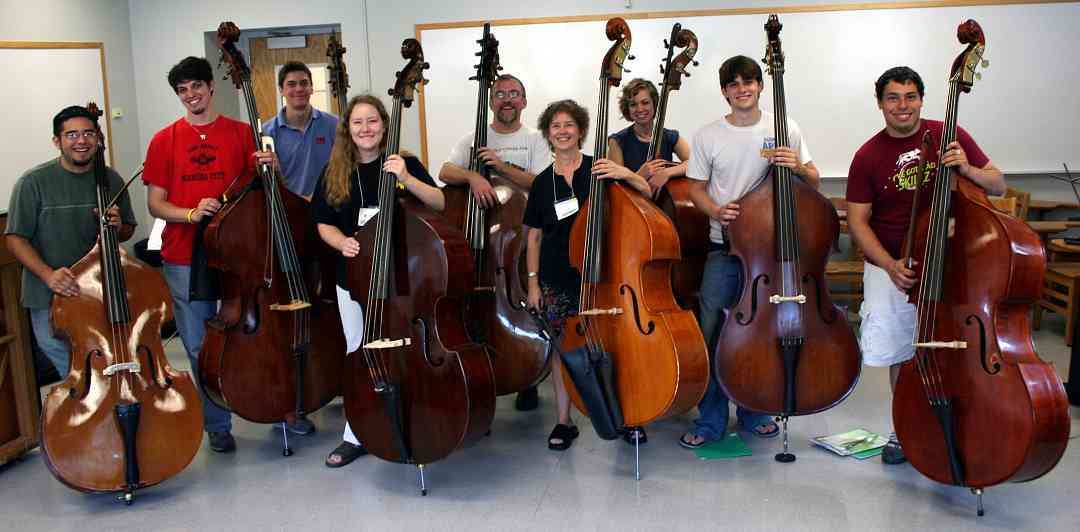 Bass students at Ottawa Suzuki Institute