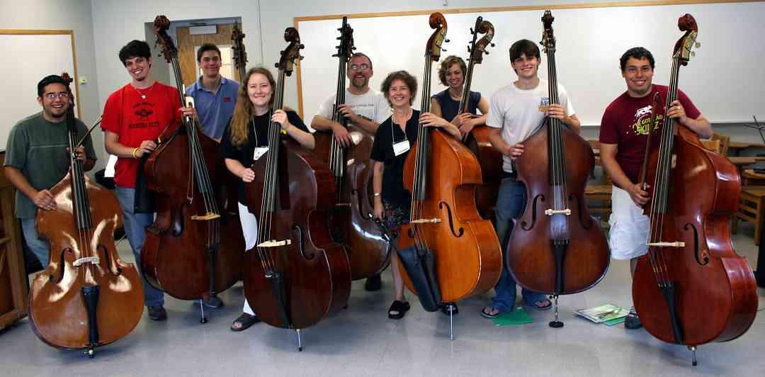 Bass students at Ottawa Suzuki Institute