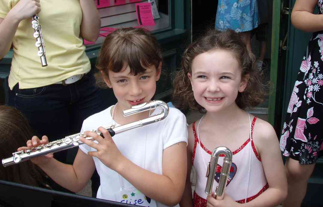 Flute students at Great Lakes Suzuki Flute and Recorder Institute