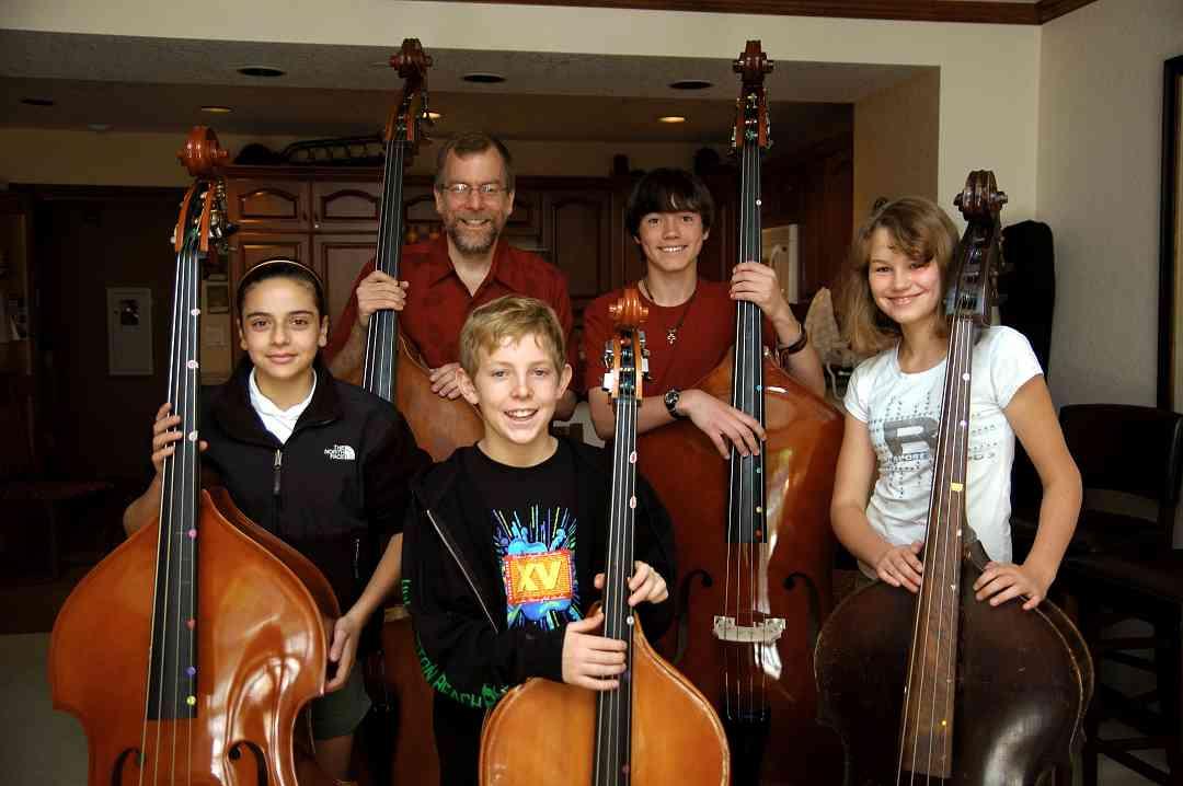 Bass students at Colorado Suzuki Institute