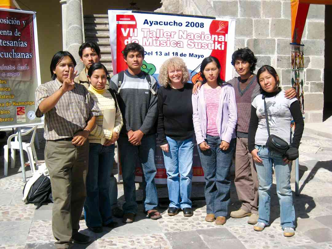 Organizing team for the 2008 Ayacucho National Workshop in Peru