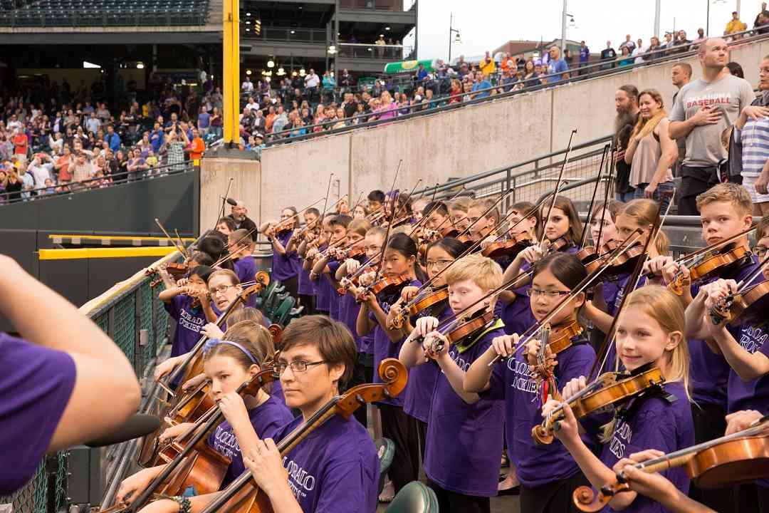 Boulder Suzuki Strings at Colorado Rockies