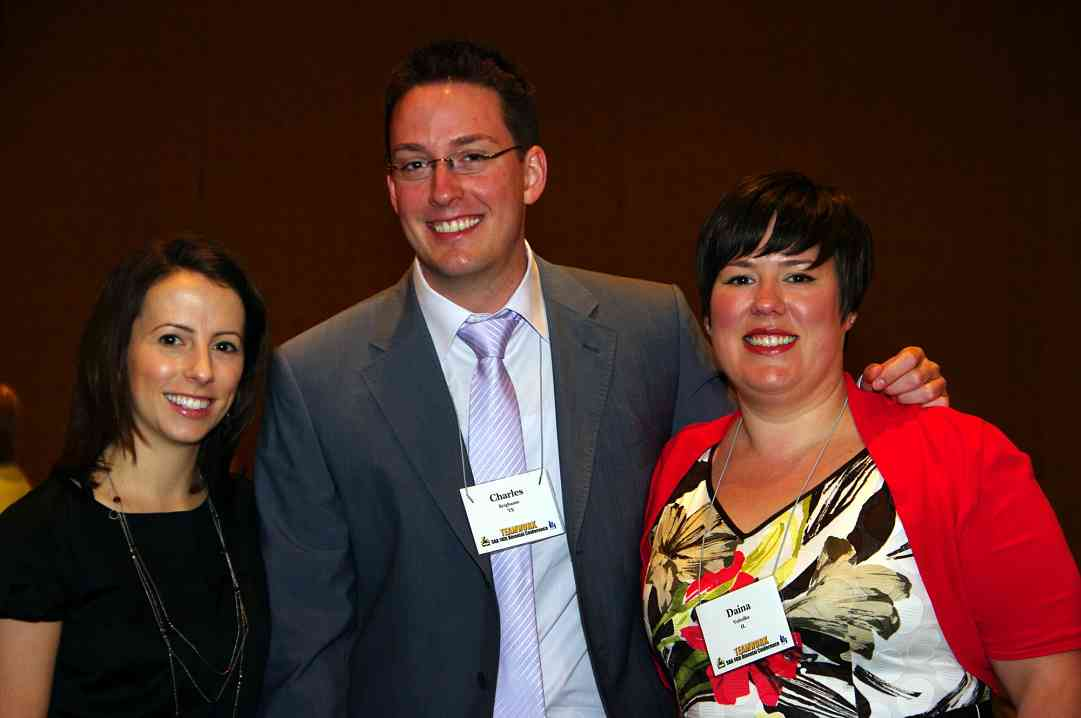 Meg Lanfear, Charles Krigbaum, Daina Volodka: Certificate of Achievement recipients at the 2010 Conference