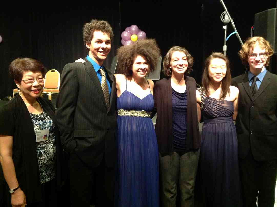 Monet Quartet after their Master Class with Becca Albers