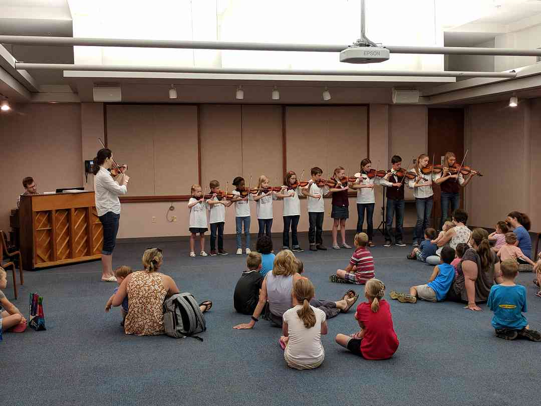SEMSA violinists at the library